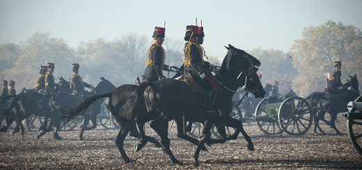 Kings Troop Royal Horse Artillery in Hyde Park